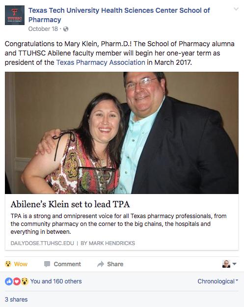 Texas Tech University Health Sciences Center School of Pharmacy