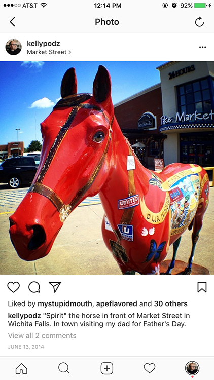 Market Street horse in Wichita Falls, Texas