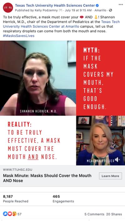 TTUHSC #MasksSaveLives Video